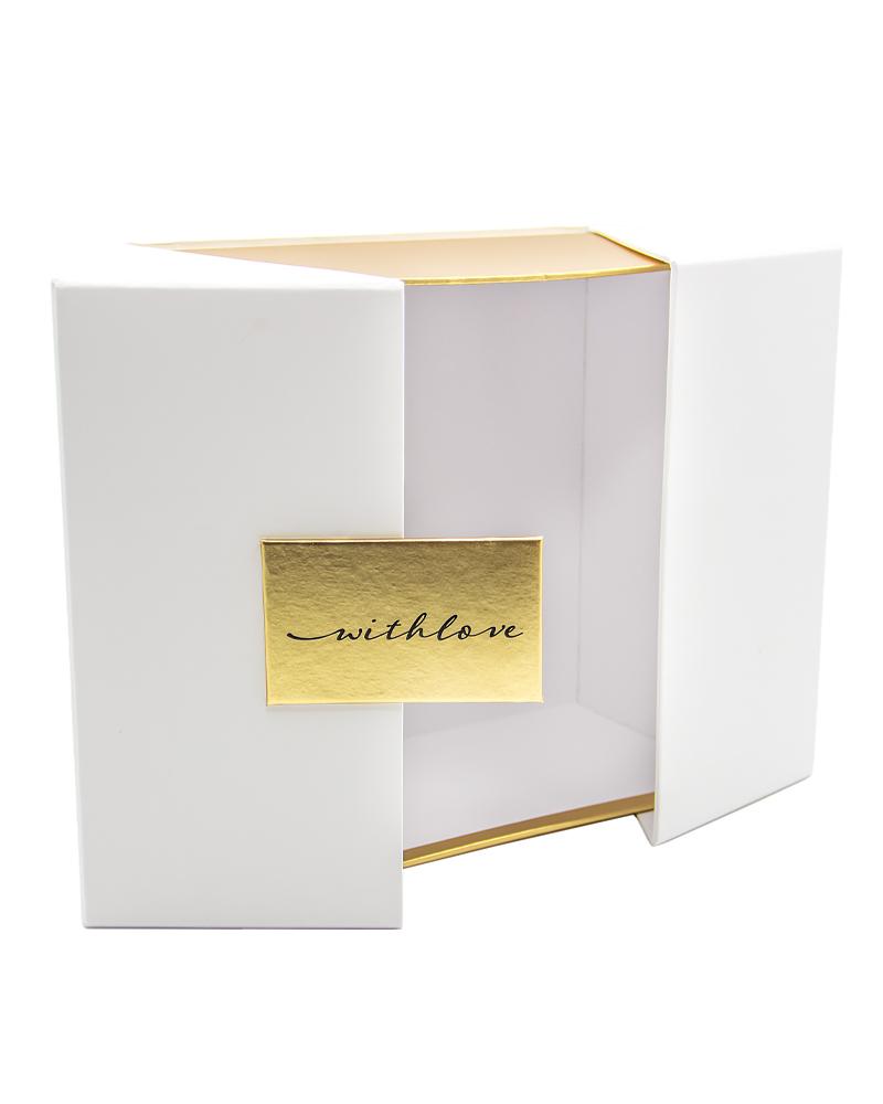 Шкатулка Белая с золотом 20 см*20 см*11 см