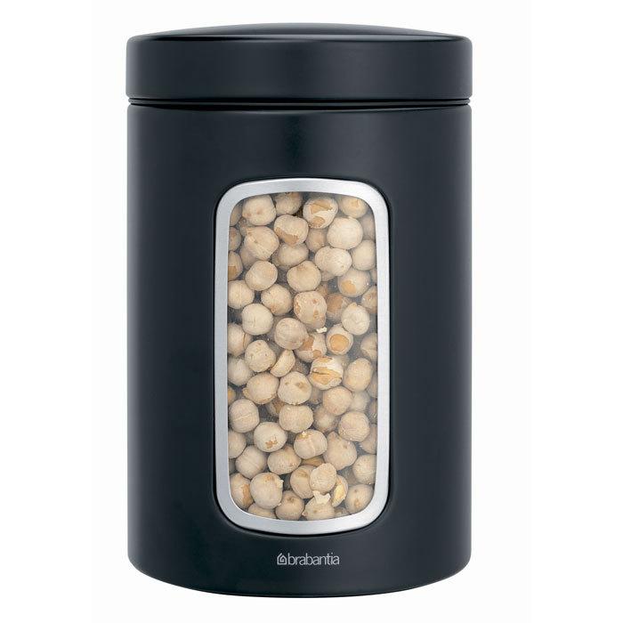Контейнер для сыпучих продуктов с окном (1,4 л), Черный матовый, артикул 333521, производитель - Brabantia