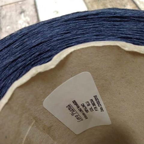 Лен LORO PIANA LINO 450 темно-синий