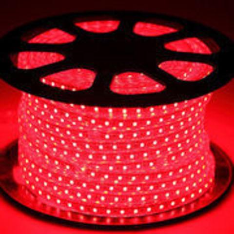 Светодиодная лента SMD3528/60, 220V влагозащищенная. Красная.