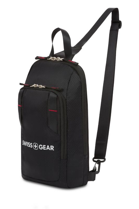 Рюкзак мужской чёрный на одно плечо 18х5х33 см 4л SWISSGEAR 3992202550