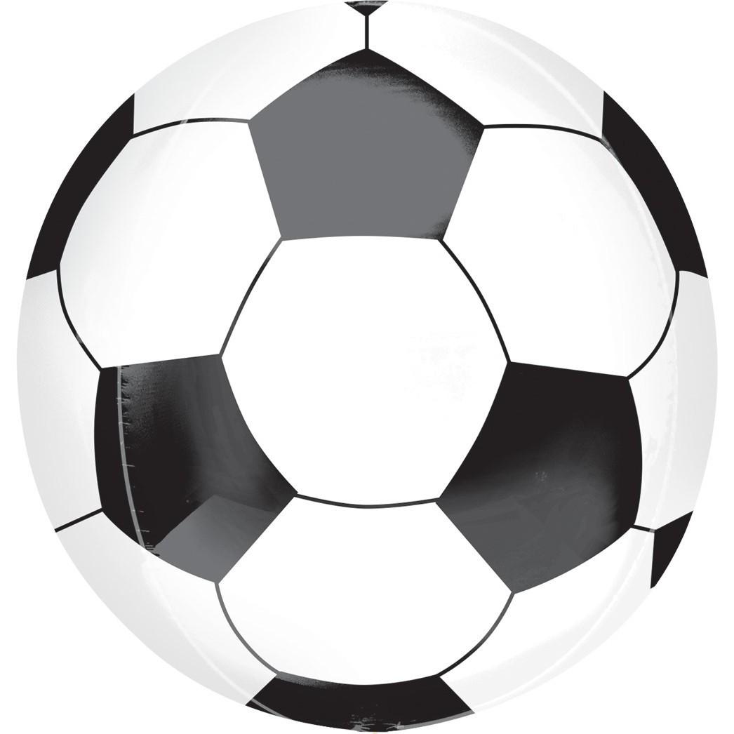 Сфера 3D, Футбольный мяч, Черный, 58см.