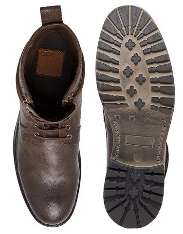 Кожаные рабочие ботинки ASOS