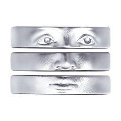 94013247 - Кольцо ЛИЦА из серебра с родированием