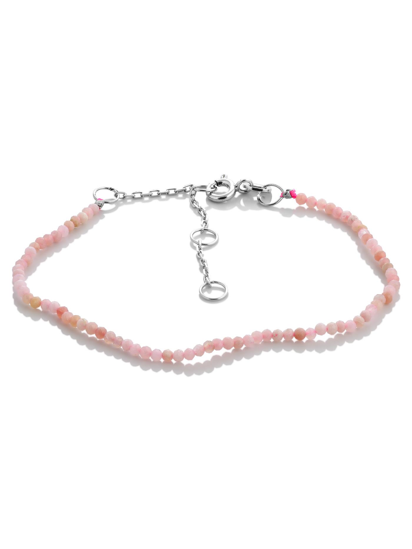 Ювелирный браслет с розовым опалом