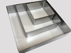 Набор квадратных форм для выкладки, выпекания 3 шт (10х10, 15х15, 20х20 H4.5см)
