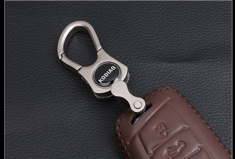 Кожаный чехол для ключа Skoda Kodiaq
