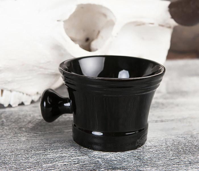RAZ315 Большая керамическая чаша для бритья с рукояткой