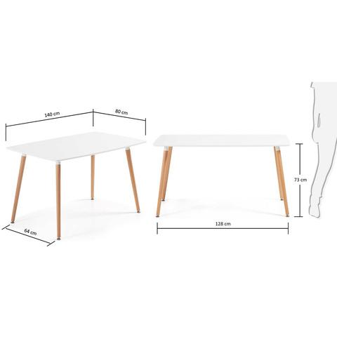Стол Daw 140 x 80 белый