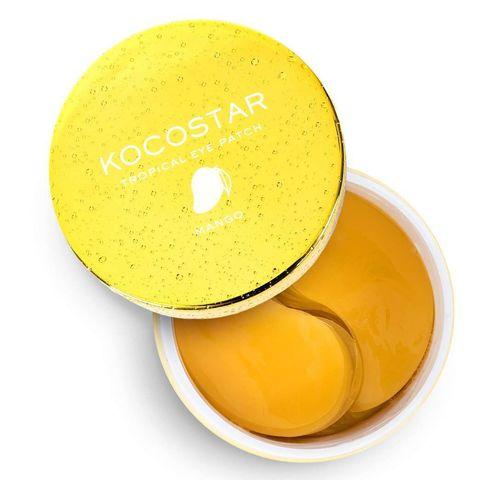 Kocostar Гидрогелевые патчи для глаз Манго 60 шт 90г/ Tropicla Eye Patch (Mango) Jar
