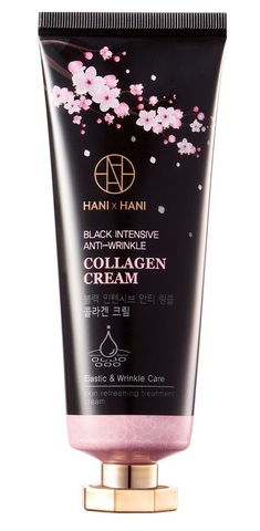 HANIxHANI Крем для лица с коллагеном Black Intensive Anti-Wrinkle Collagen Cream 70 г