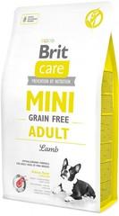 Беззерновой корм для собак мини-пород, Brit Care MINI Grain-Free Adult, с ягненком