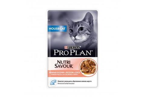 Консервы для домашних кошек Hausecat Purina Pro Plan, лосось в соусе  85 г