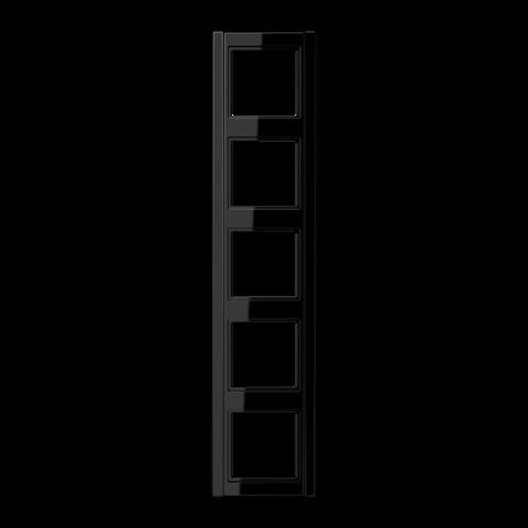 Рамка на 5 постов. Цвет Чёрный. JUNG A 500. A585SW