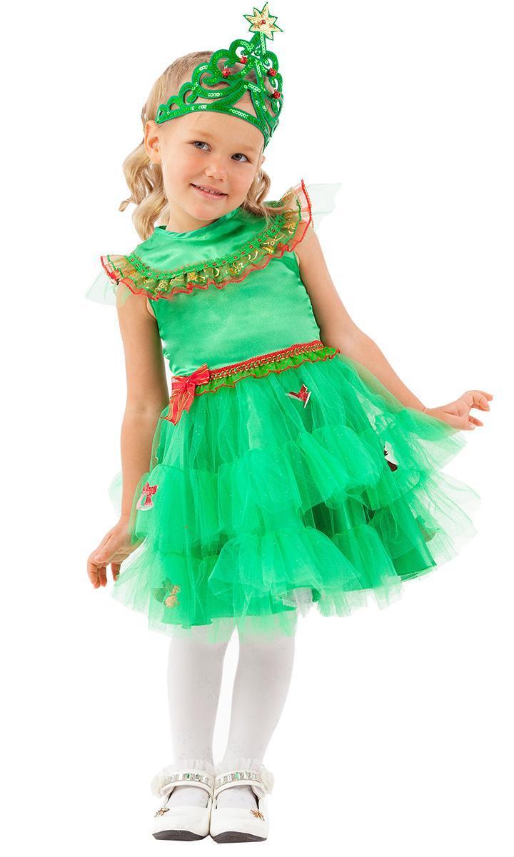 Костюм  карнавальный детский Елочка зеленая