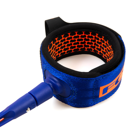 FCS 8' All Round Essential Leash Blood Orange/Navy