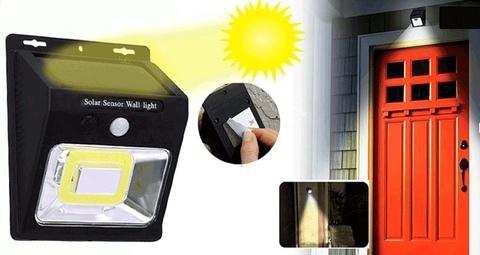 Фонарь настенный на солнечной батарее индукционный с датчиком движения.