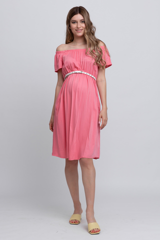 Платье для беременных 12589 розовый