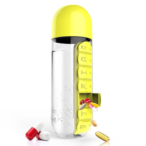 Бутылка органайзер Asobu In style (0,6 литра), желтая