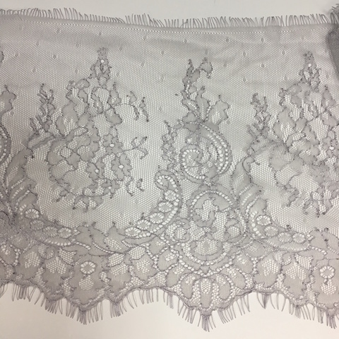 Кружево Тонкое шантильи Silver Lilac