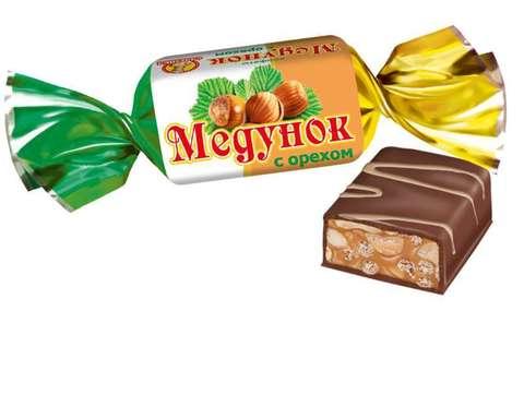"""Конфеты """"Славянка"""" Медунок с орехом 250гр"""