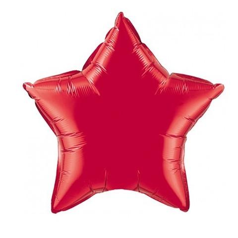 Звезда из фольги красная (46 см)