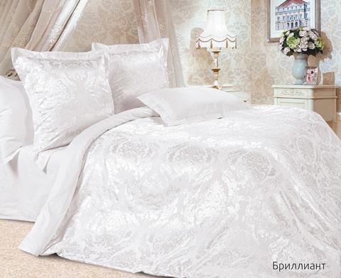 Жаккардовое постельное бельё семейное, Бриллиант
