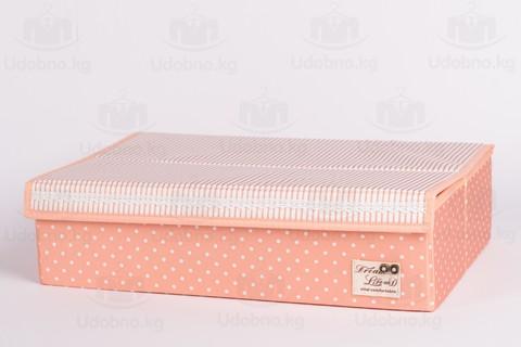 Большой складной органайзер, 24 ячейки, 46*31*12 см (розовый в горошек)