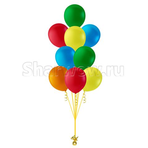 фонтан из разноцветных воздушных шаров