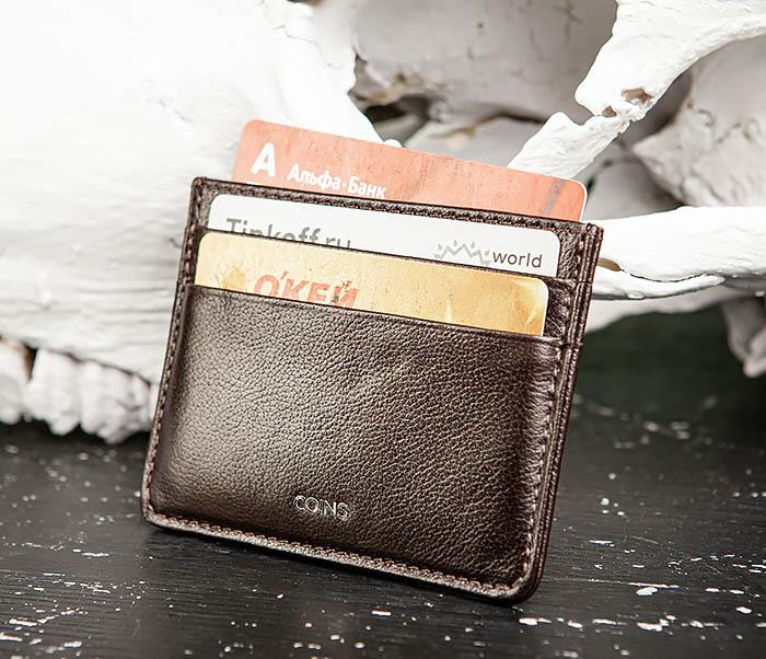 BC219-2 Тонкий кожаный кардхолдер (чехол для карточек), «Atos» фото 04