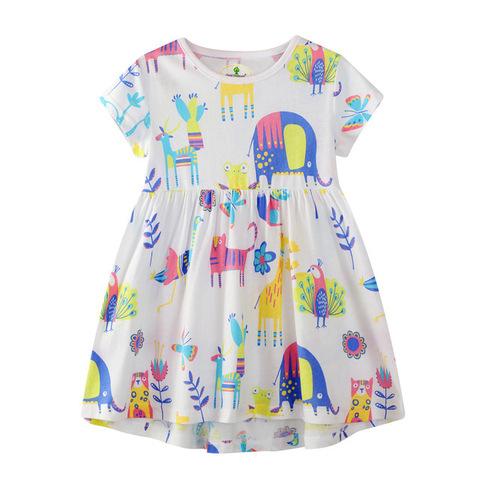 Платье для девочки Beimeixin Яркие животные