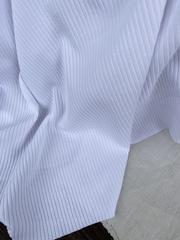 Трикотаж-лапша, Белоснежно белый