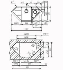 Мойка кухонная TEKA Astral 80E-TG - схема
