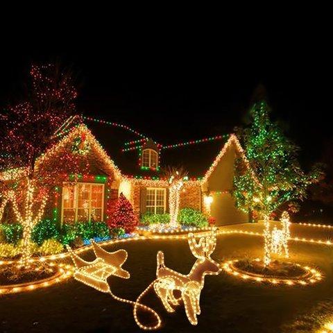 придбати жовтий дюралайт гірлянду оптом LED