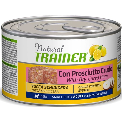 Trainer Natural Dog Adult Small & Toy Adult - With Dry-Cured Ham, 1800 г.