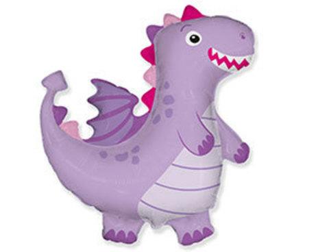 Фольгированный шар Дракон фиолетовый
