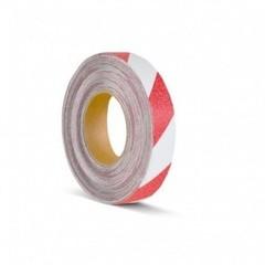 Лента противоскользящая Мельхозе 25 мм х 18.3 м красная/белая (артикул производителя M1YR025183)