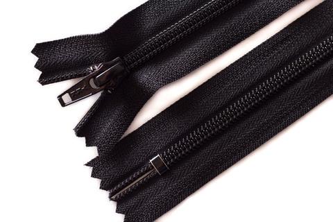 Витая молния ykk 22 см, тип 5, черный цвет