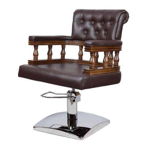Парикмахерское кресло МД-170 гидравлика хром, квадрат хром