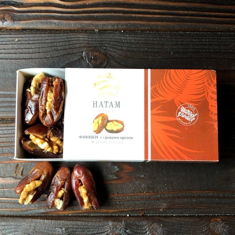Фотография Финики c грецким орехом 200 гр купить в магазине Афлора