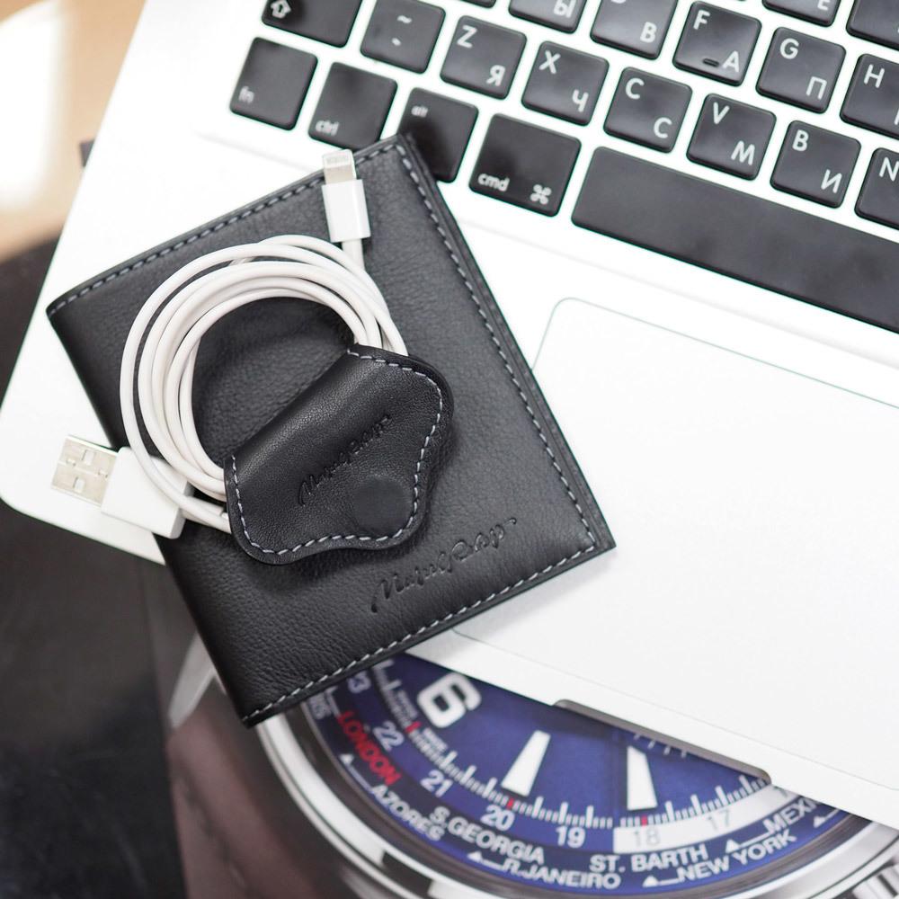 Портмоне-кошелек Pochette Easy из натуральной кожи теленка, темно-коричневого цвета