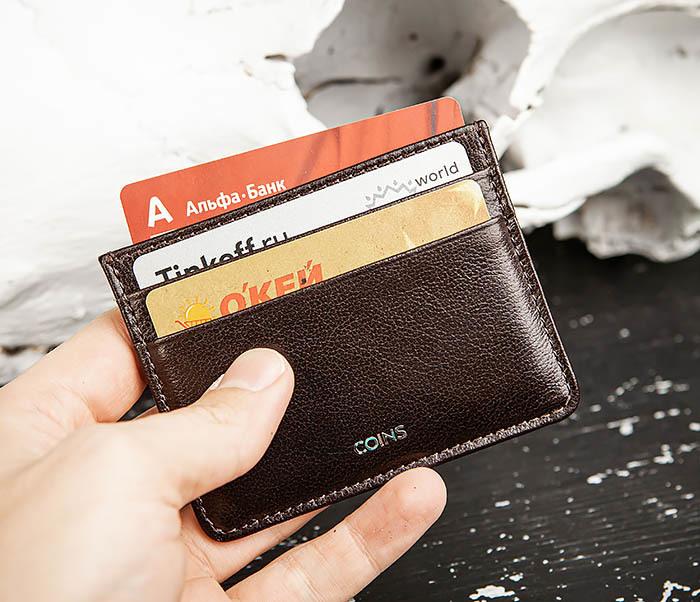 BC219-2 Тонкий кожаный кардхолдер (чехол для карточек), «Atos» фото 06