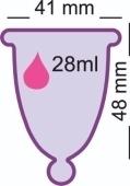 Менструальная чаша MeLuna SOFT(M) – ярко-солнечная