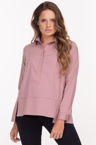 Рубашка для беременных 11884 пудра