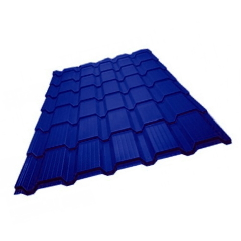 Металлочерепица Каскад Полиэстер RAL 5002 Синий ультра 0.45 мм
