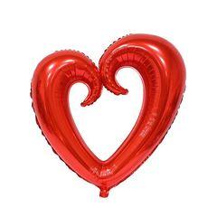 F Сердце Фигурное Металлик красный 36