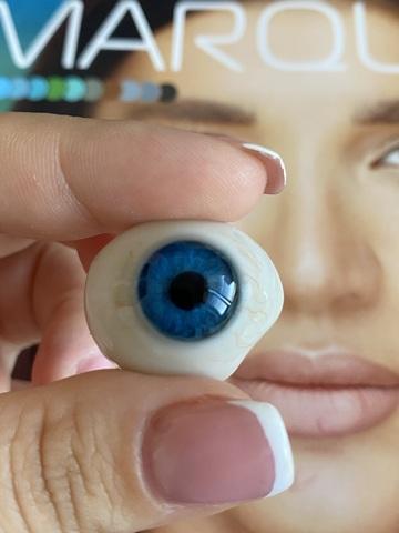 Оттеночные голубые линзы для Светлых глаз Marquise Solo dark blue