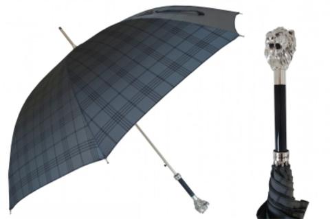 Зонт-трость Pasotti 6434-19-W37 Silver Leo (серебряный лев)