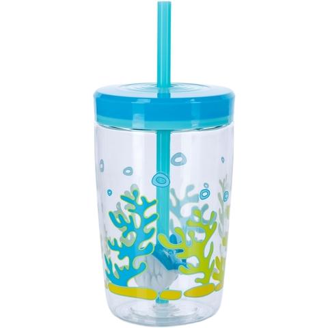 Стакан детский с трубочкой Contigo Floating Straw Tumbler (0,47 литра), голубой