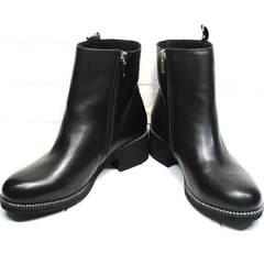 Полусапожки женские Jina 6845 Leather Black